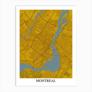 Montreal Yellow Blue Art Print