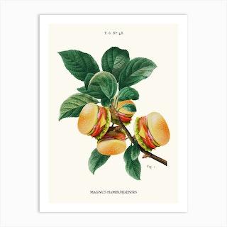 Burger Plant Art Print