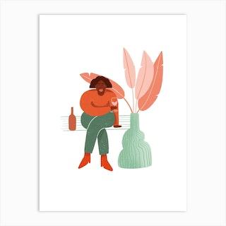 Rose Hunny Art Print