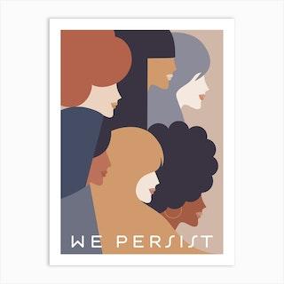 Girl Power We Persist Earthy Art Print