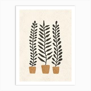 Potten Ferns Art Print