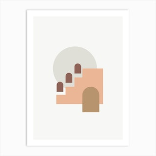 Minimal Shapes Landscape Art Print