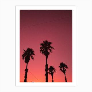 Beach Vibes And Palms Art Print