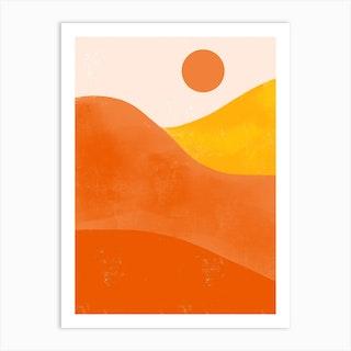 Boho Desert Sunset Art Print