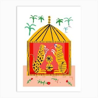 Big Cats Dont Cry Tent Art Print