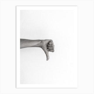 Hands 2 Flop Art Print