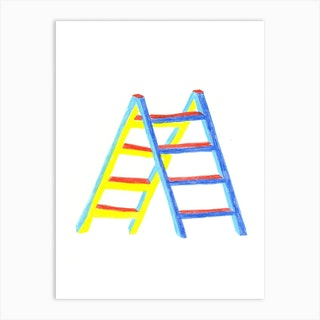 Ladder Drawing Art Print