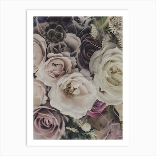 Roses And Dry Flowers Bouquet Art Print