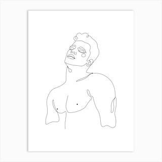 Nude Boy Art Print