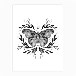 Mystic Butterfly Art Print
