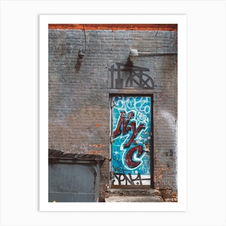 Nyc Door Art Print