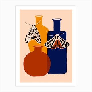 Mothecary Bottles Art Print