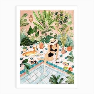 Moroccan Dipping Pool Art Print