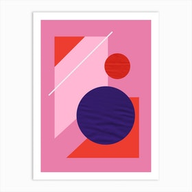 Its All So Pink Modern Geometry No1 Art Print