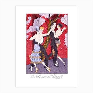Les Fureurs du Tango, George Barbier Art Print