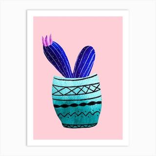 Galaxy Cacti Art Print