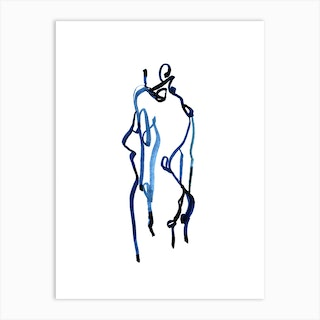 Blue Woman 6 Art Print