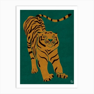 Tiger Doesn't Lose Sleep Art Print