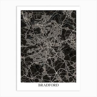 Bradford Black Blue Art Print