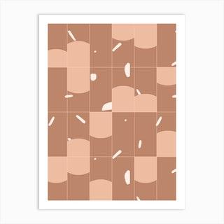 Earthy Tiles 01 Art Print