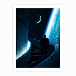 Stairway To Space Art Print