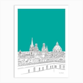 Oxford Skyline Art Print