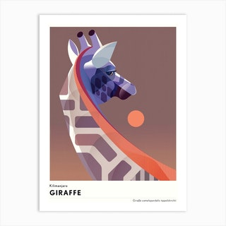 Kilimanjaro Giraffe Art Print
