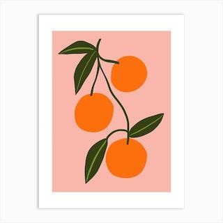 Orange Squeeze Art Print