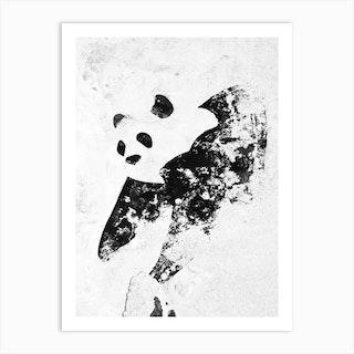 Venice Wall Panda Art Print