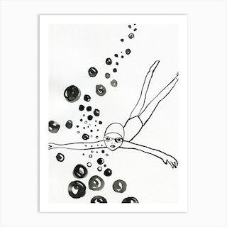 Diver 2 Art Print