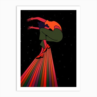Dancing In Outer Space Art Print
