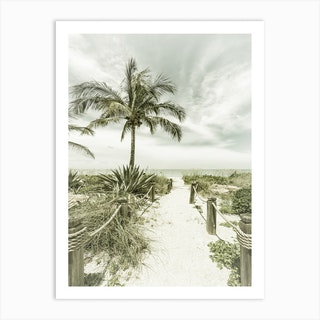Path To The Beach Vintage Art Print
