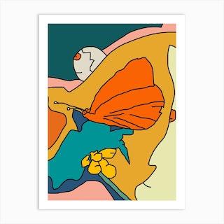 Butterfly Siesta Art Print