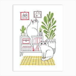 Cat Decor Art Print
