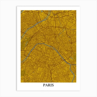 Paris Yellow Blue Art Print