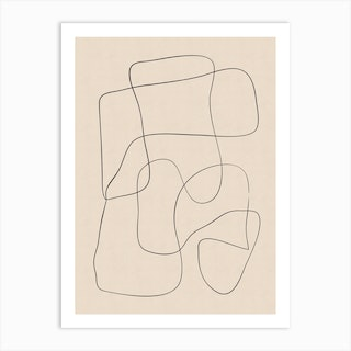 Abstract Scribble On Paper Art Print