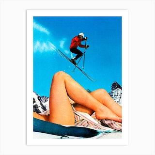 Ski Jump Art Print