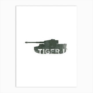 Tiger One Tank Art Print