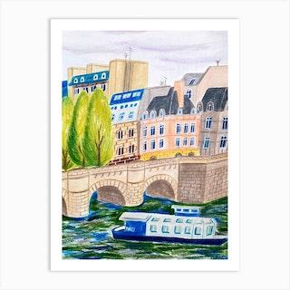 Paris In July Art Print