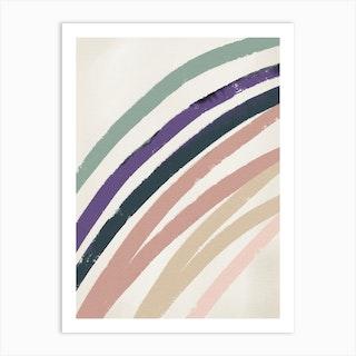 Abstracto Rainbow Pastels Art Print