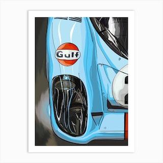 Car Porsche 917 Le Mans Gulf Art Print