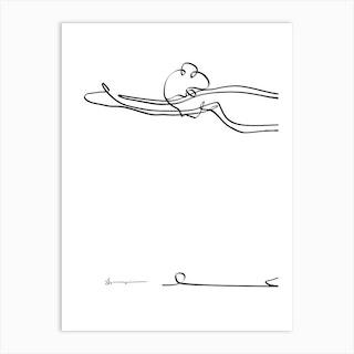 Balancing Stick Pose Abstract Art Print