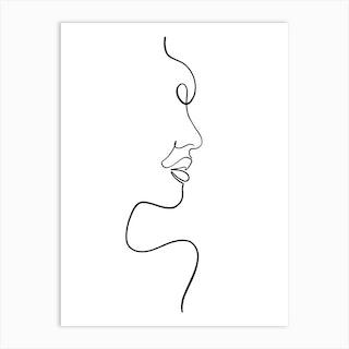 Line Woman2 Art Print
