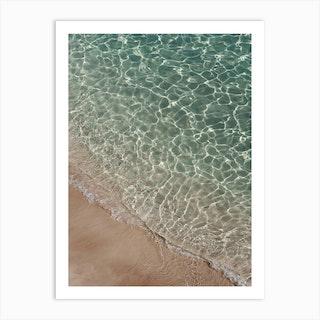 Where Sand And Water Meet Art Print