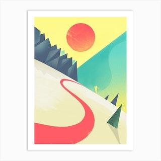 The Last Ski Art Print