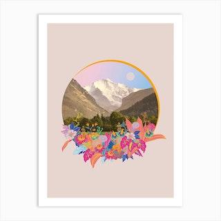 Fancy Land Blush Pink Art Print