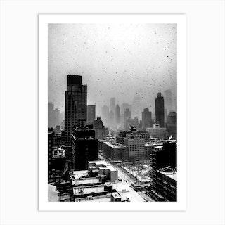 Heavy New York Snow Art Print