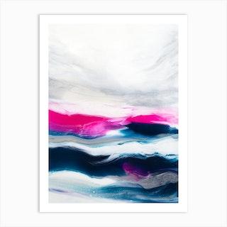 Fuschia Wave 1 Art Print