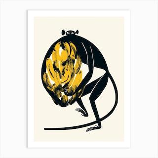 Midcentury Ape Art Print