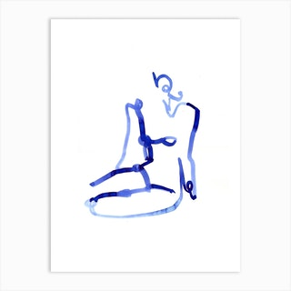 Blue Woman 10 Art Print